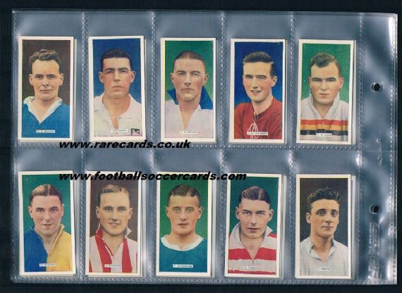 1936 x2 sets Popular Footballers tobacco